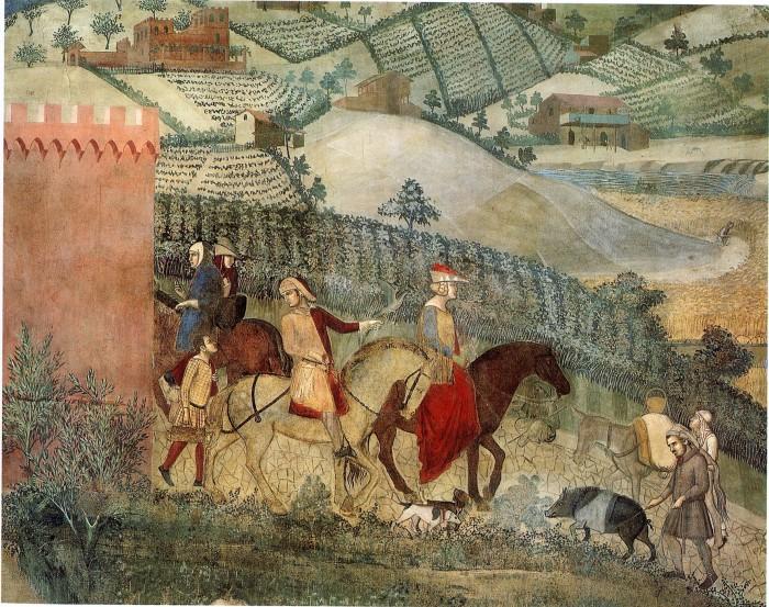 Palazzo-Pubblico-Sala-della-Pace-Ambrogio-Lorenzetti-Effetti-del-Buongoverno-in-campagna-1339